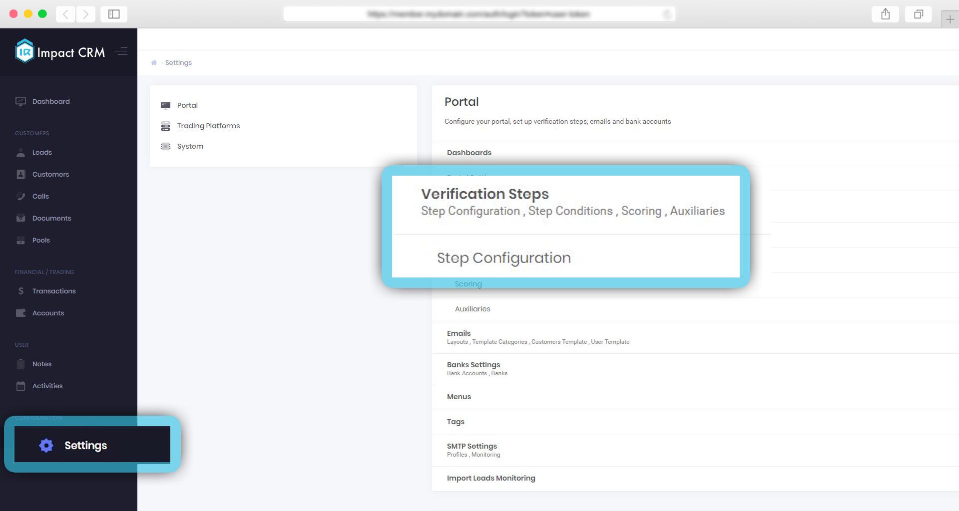 We added Custom HTML type on verification steps